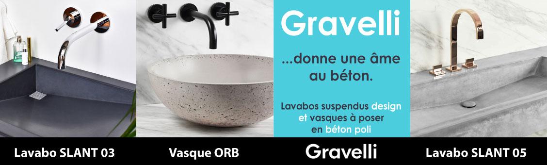 lavabos en béton de GRAVELLI